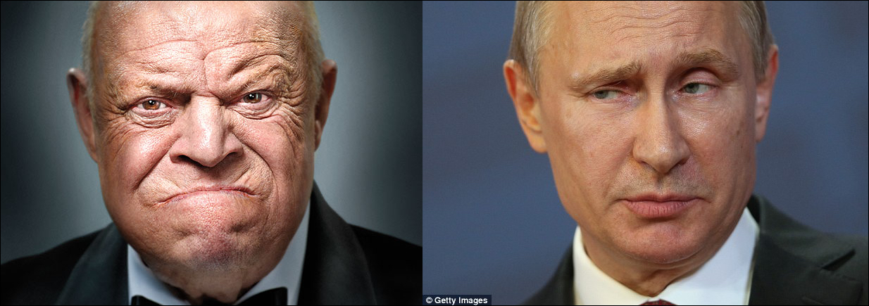 Don Rickles, left, and Vladmir Putin: suitable Trump stand-ins